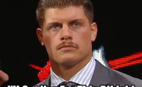 Cody Rhodes Mustache - I'll Get You For This Rikishi