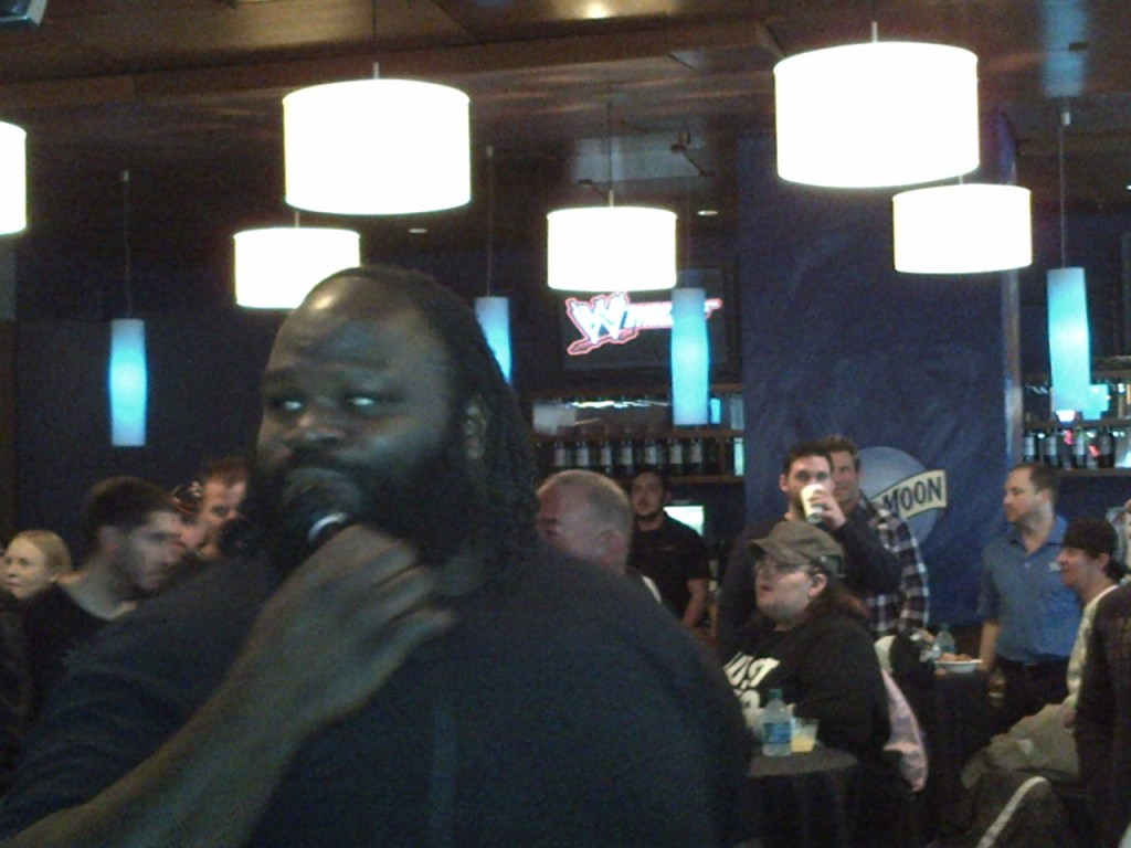 Mark Henry was in many ways the star of the 2nd meet and greet. Words don't describe how massive he is in person.