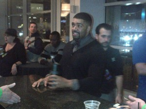 Davis Otunga on the other hand was there without being noticed for several minutes by anyone at first.
