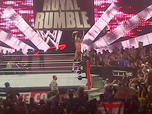 Punk celebrates after appearing to retain the title
