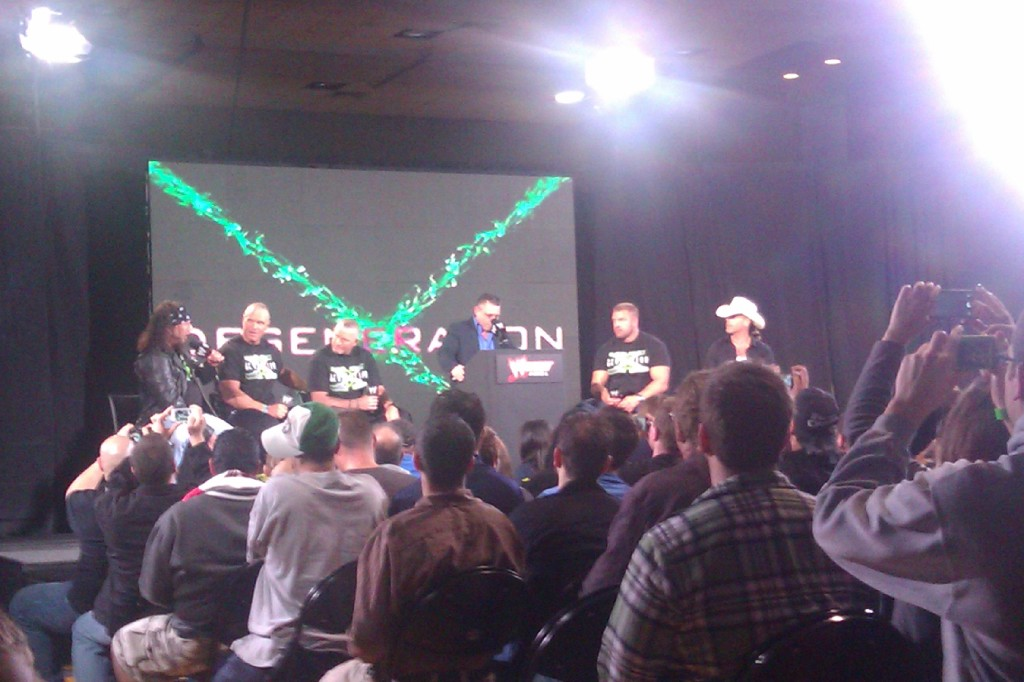 Maybe the most fun thing all the weekend, Michael Cole hosting the DX Panel