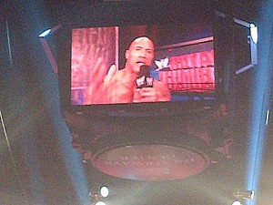 The Rock cut a great Dusty Rhodes type promo just before the WWE Championship match between him and CM Punk