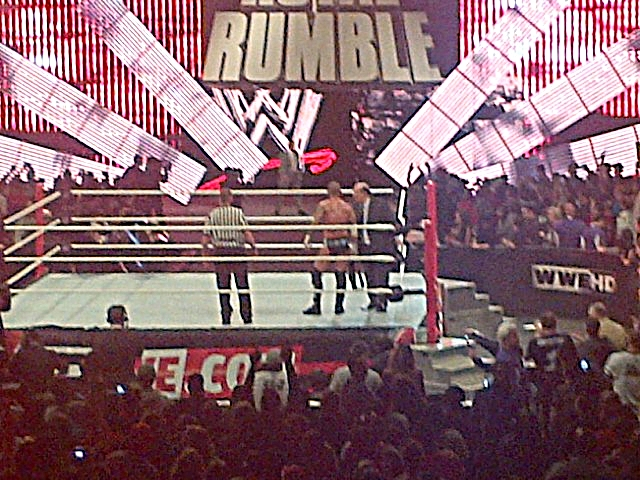 Hold up Punk. I believe no chance, that's what you got as Vince McMahon enters to an enormous