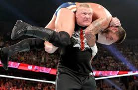 Brock Lesnar gives CM Punk an F5 on Raw