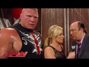 Brock Lessnar, Renee Young & Paul Heyman on RAW