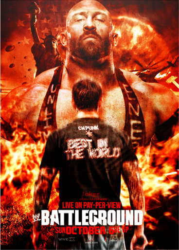 WWE Batlleground 2013 PPV Poster CM Punk Conronts The Ryback