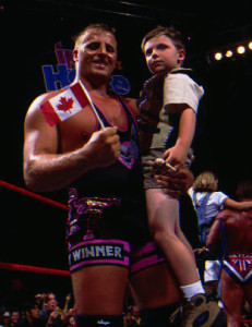 Owen Hart and his son Oje