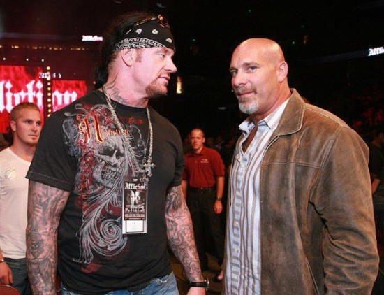 And here he is with his buddy and the other guy to have a legendary streak in the business, Bill Goldberg.