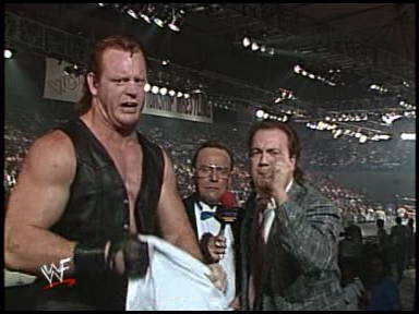 But when Dan Spivey left WCW another change came and Mean Mark was positioned for a singles run with Paul Heyman, going by Paul E. Dangerously at the time, being his mouthpiece.