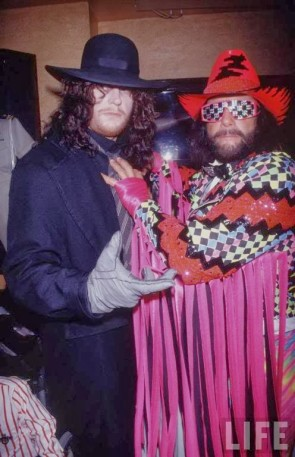 "And a backstage photo with another of the all time greats, Randy ""Macho Man"" Savage. This is the real Mega Powers!"