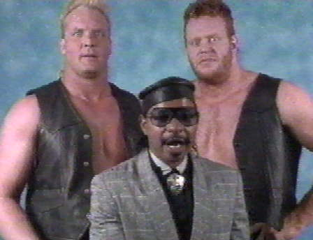 But shortly after Mean Mark would find himself under the tutelage of Teddy Long partnering with Dan Spivey as The Skyscrapers.