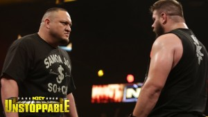 Samoa Joe and Kevin Owens in NXT